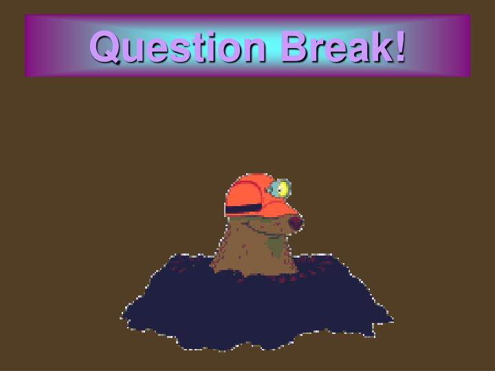 Question Break!