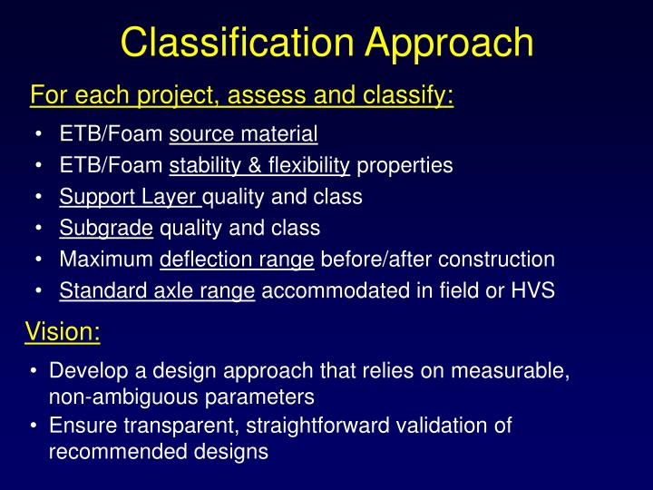 Classification Approach