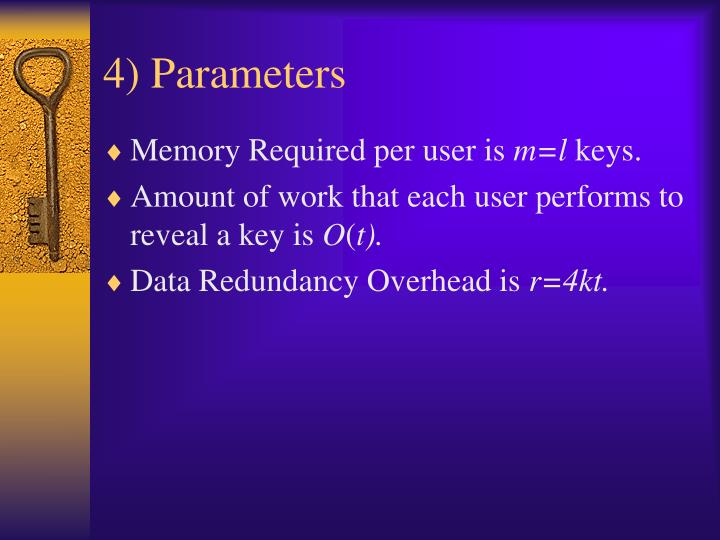 4) Parameters
