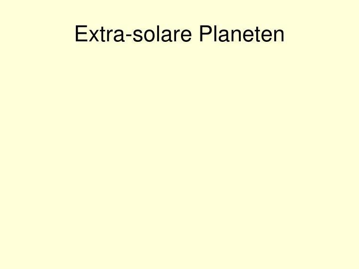 Extra-solare Planeten