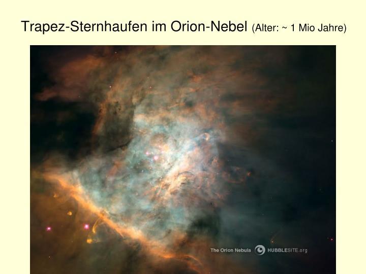 Trapez-Sternhaufen im Orion-Nebel