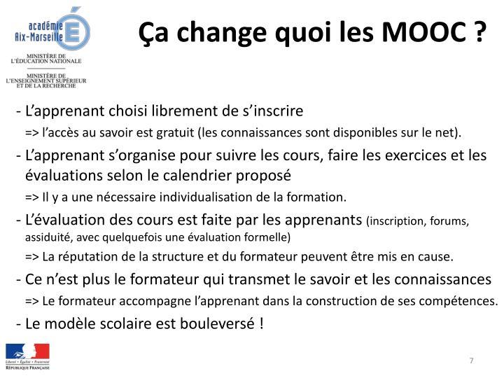 Ça change quoi les MOOC ?