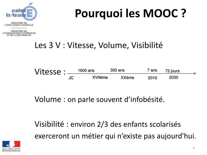 Pourquoi les MOOC ?