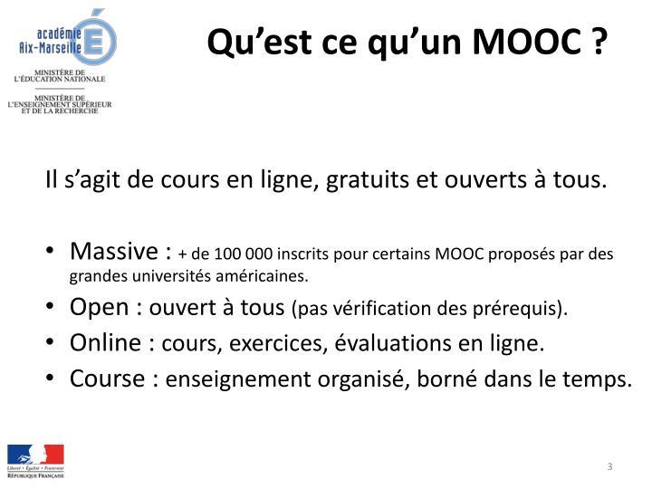 Qu'est ce qu'un MOOC ?