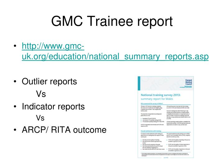 GMC Trainee report