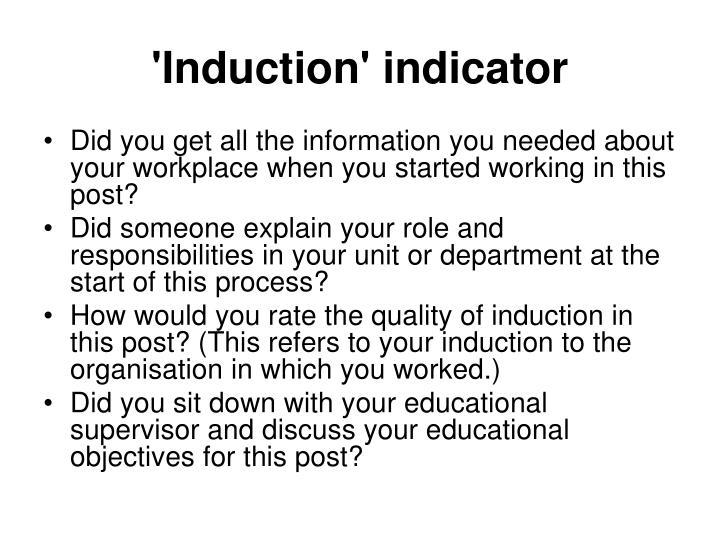 'Induction' indicator