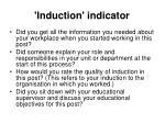 induction indicator
