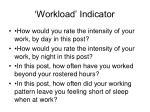 workload indicator