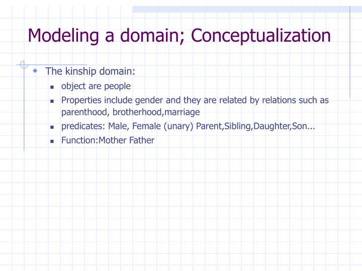 Modeling a domain; Conceptualization