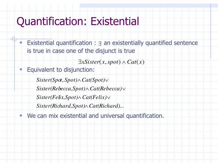 Quantification: Existential