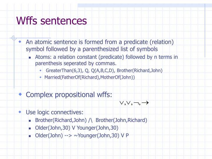 Wffs sentences