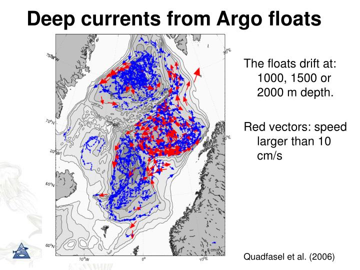 Deep currents from Argo floats