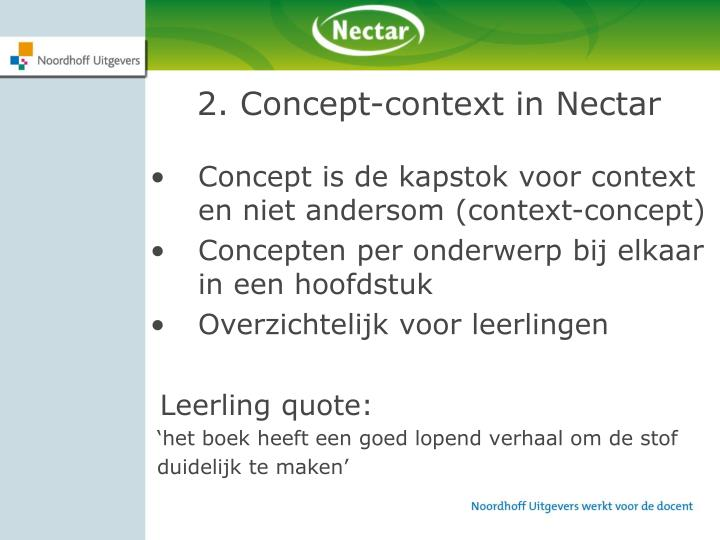 2. Concept-context in Nectar