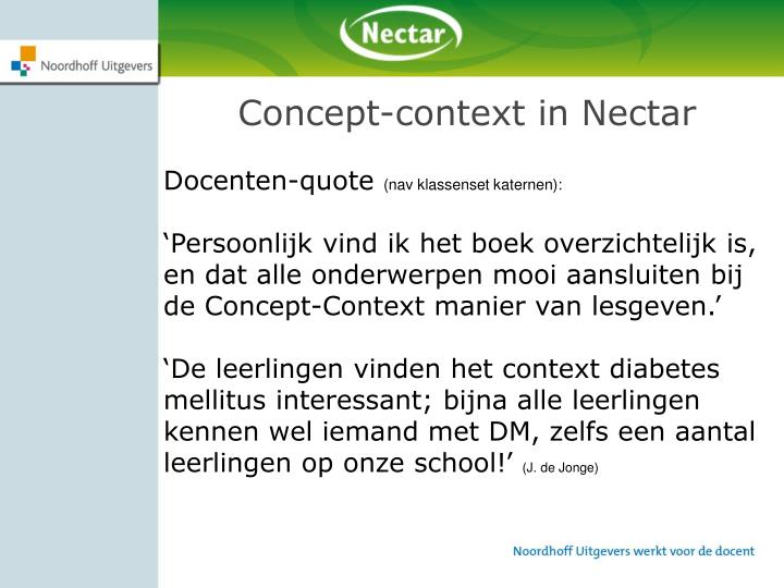 Concept-context in Nectar