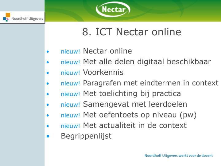8. ICT Nectar online