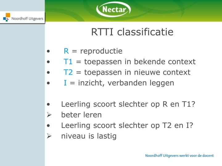 RTTI classificatie