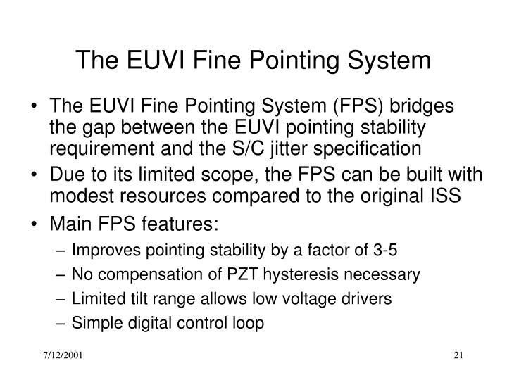 The EUVI Fine Pointing System