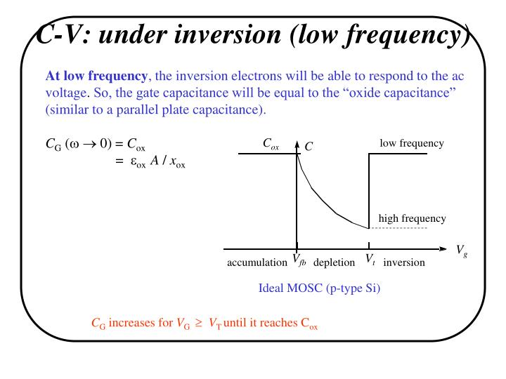 C-V: under inversion (low frequency)