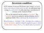 inversion condition