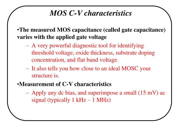 MOS C-V characteristics