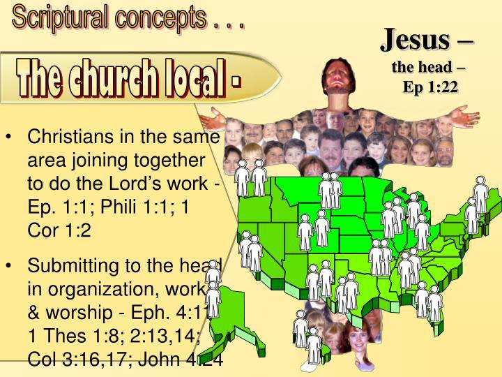 Scriptural concepts . . .