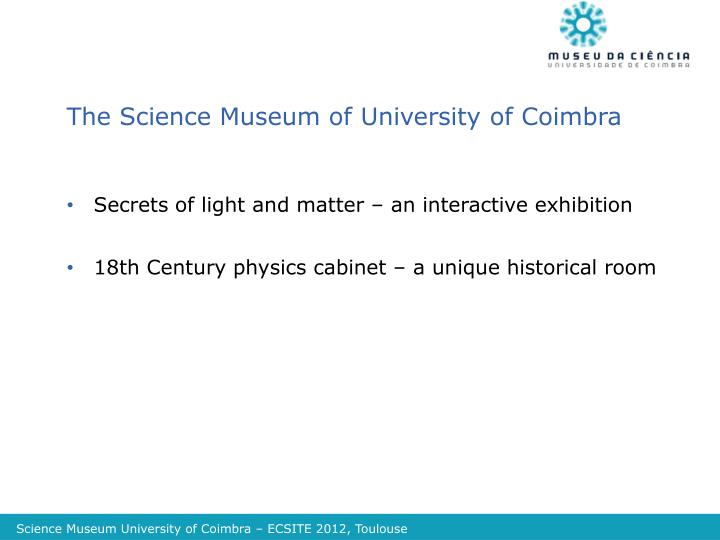 The Science Museum of University of Coimbra