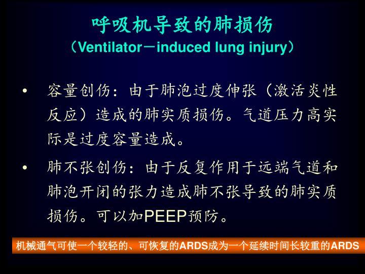 呼吸机导致的肺损伤