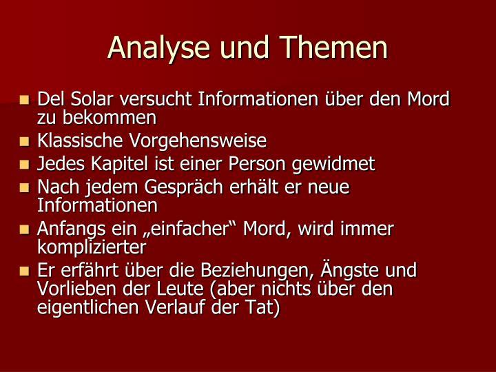Analyse und Themen