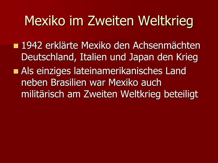 Mexiko im Zweiten Weltkrieg