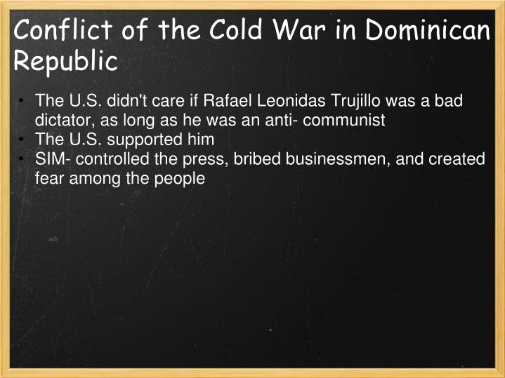Conflict of the Cold War in Dominican Republic