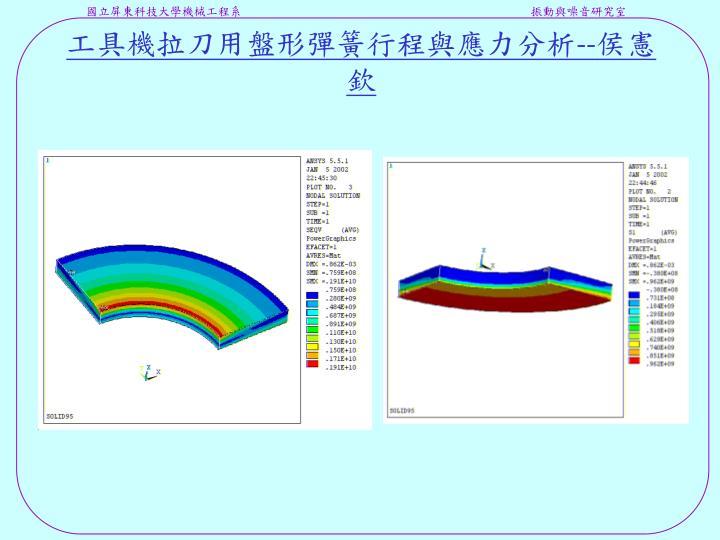 工具機拉刀用盤形彈簧行程與應力分析