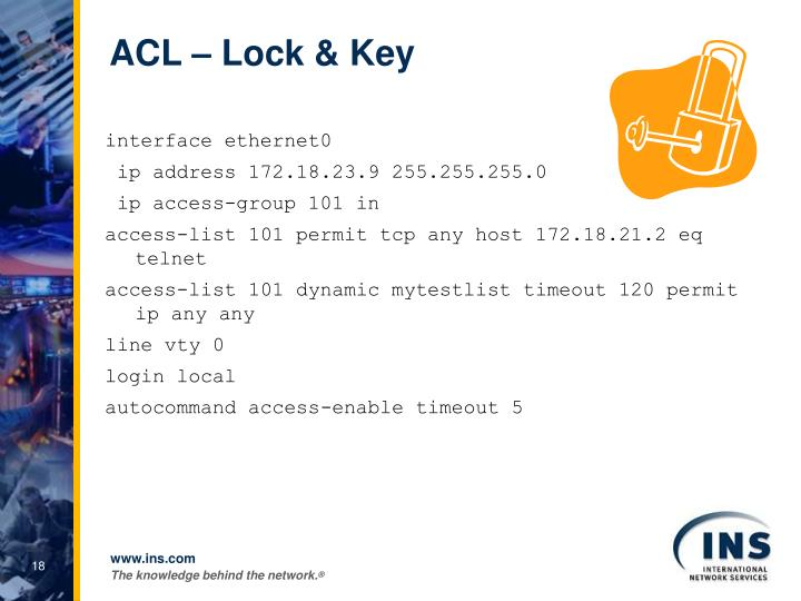 ACL – Lock & Key