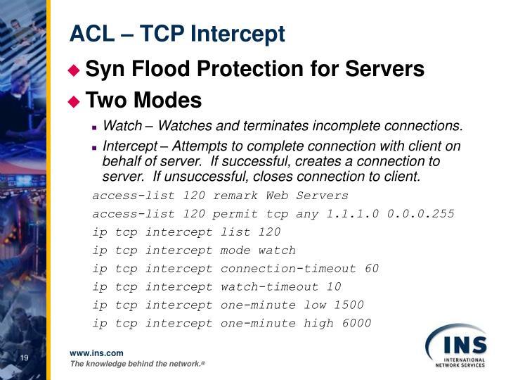 ACL – TCP Intercept