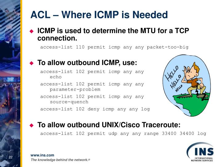 ACL – Where ICMP is Needed