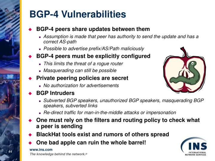 BGP-4 Vulnerabilities
