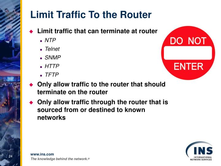 Limit Traffic To the Router