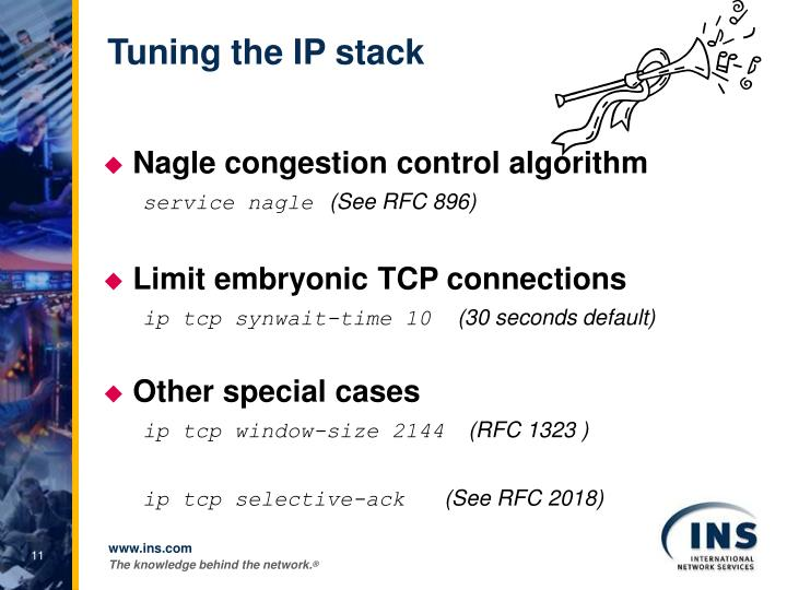 Tuning the IP stack