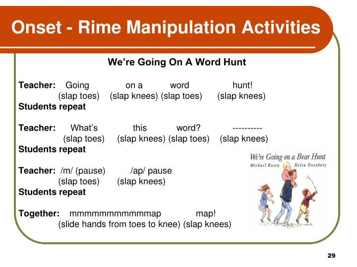 Onset - Rime Manipulation Activities