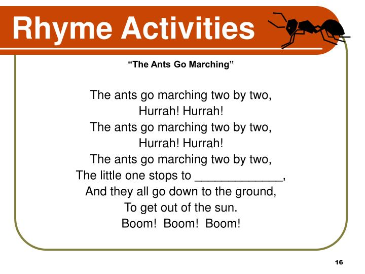 Rhyme Activities