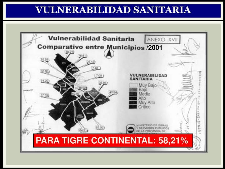 VULNERABILIDAD SANITARIA