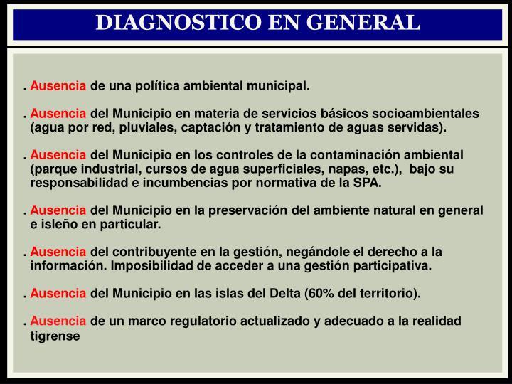 DIAGNOSTICO EN GENERAL