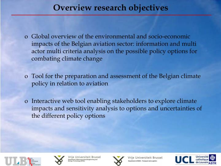 Overview research objectives