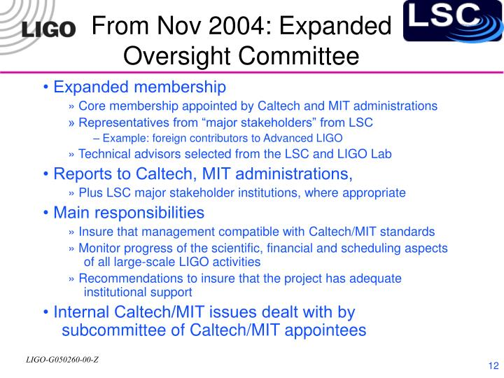 From Nov 2004: Expanded