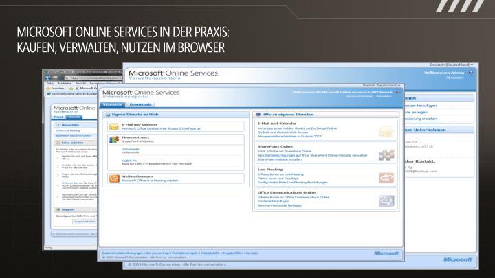 Microsoft Online Services in der Praxis: