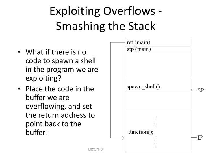 Exploiting Overflows -