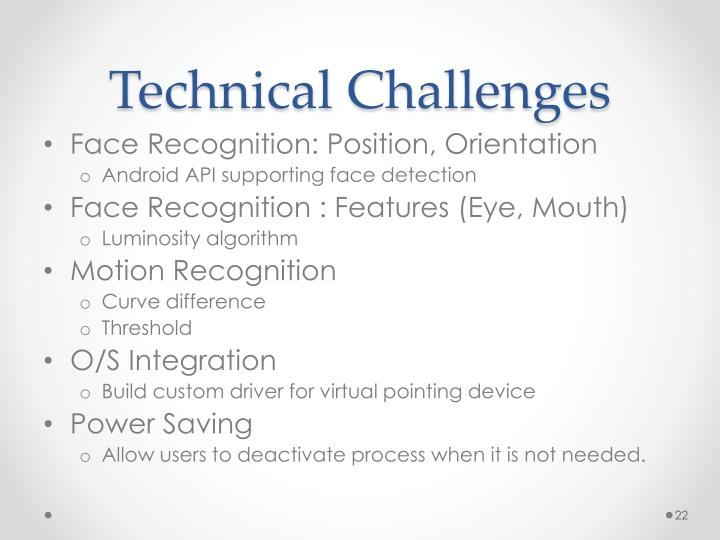 Technical Challenges