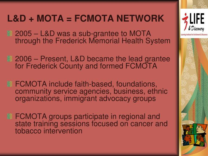 L&D + MOTA = FCMOTA NETWORK