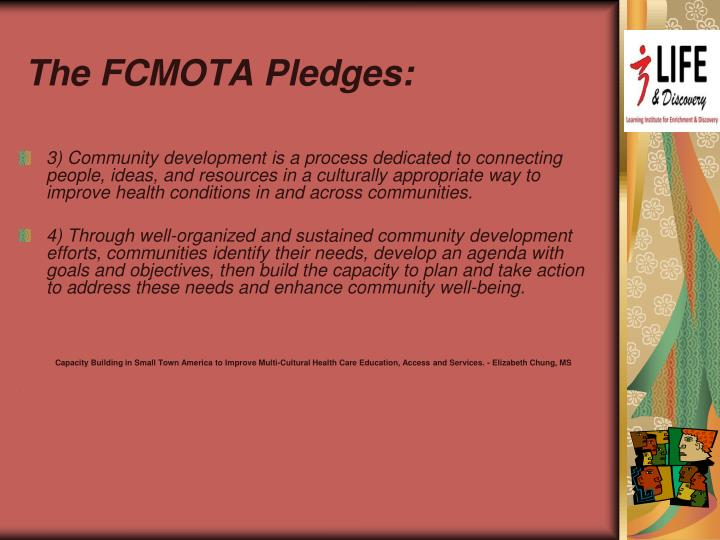 The FCMOTA Pledges: