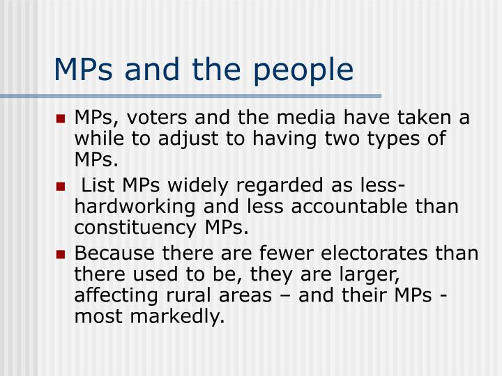 MPs and the people